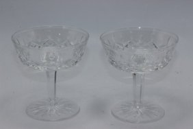 "10 Pc. Waterford ""lismore"" Crystal Champagne Glasses"