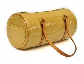 Louis Vuitton Gold / Beige Vernis Papillon Purse