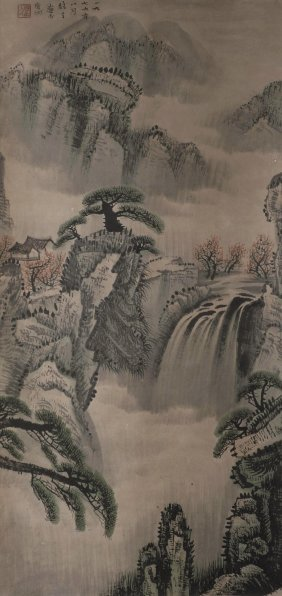 Chinese Water Color Landscape Painting
