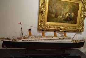 Wood Carved Titanic Liner Model