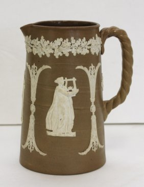 Jasperware Pottery Pitcher