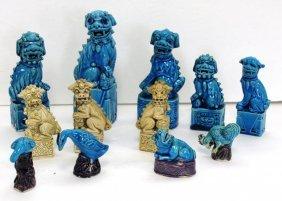 Twelve(12) Chinese Glazed Ceramic Animals