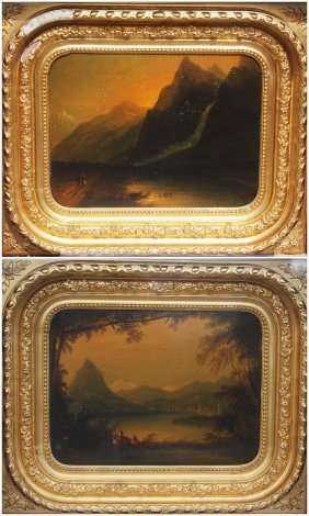 19thc. German; Pair Of Oil Paintings Signed