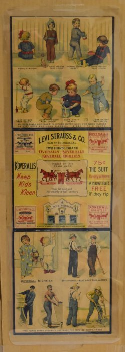 Levi Strauss & Co. Lithographed Advertisement