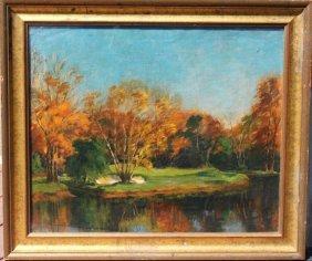 Ella Maie Hyatt Lapham; American Oil Painting Signed