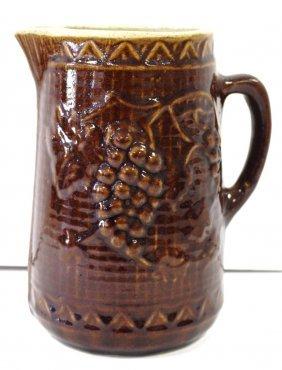 American Glazed Stoneware Ptcher