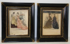 Pair Of Early Two Dimensional Fashion Plaques
