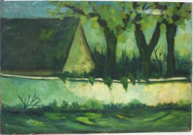 Carlos Padros Cardella; 20thc. Spanish Oil Painting