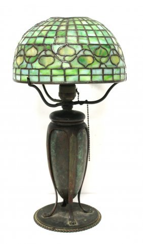 Tiffany Studios Leaded Acorn Lamp