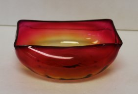 Mt. Washington Amberina Glass Bowl