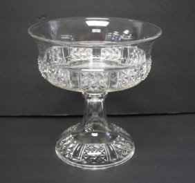 Early Pressed Glass Fruit Bowl