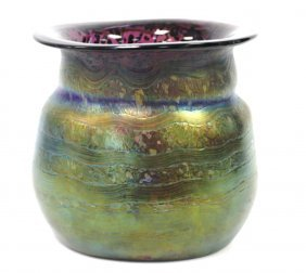 Rare Loetz Organic Art Glass Vase