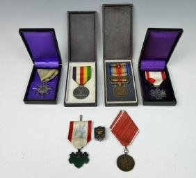Ww2 Japanese Medals And Pins, (7pc)