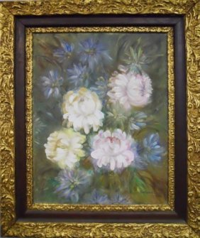 Painting, Oil On Canvas, Floral Still Life