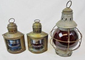 Ship Lanterns, Wilcox Crittenden & Geo Terry (3pc)