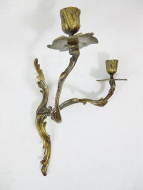 18th C. Louis Xv Style Bronze Wall Sconce