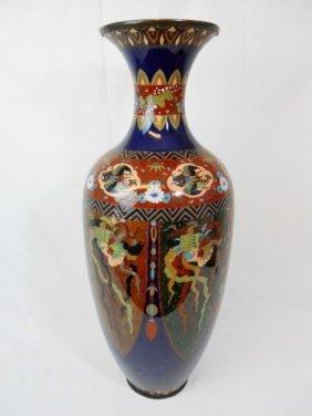 Large Japanese Meiji Period Cloisonne Vase