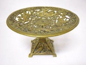 19th C. English Neoclassical Brass Tazza