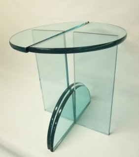 Mid-century Modern Glass Occasional Tables