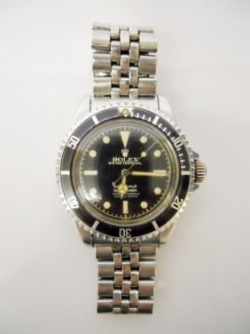 1960's Rolex Submariner With Jubilee Band