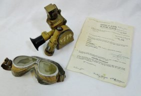 Wwii German Mg Sight, With 1945 Bring Back Papers