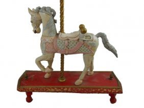 Vintage Painted Carousel Horse