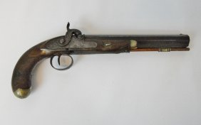 Early 19th C. Octagonal Barrel Percussion Pistol