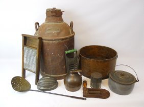 Collection Of Antique Primitive Items