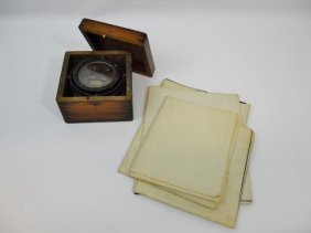 Collection Of Marine Blueprints And Compass