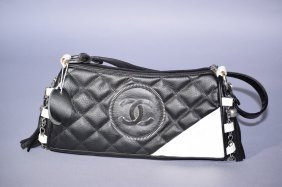 Chanel Style Two Tone Handbag