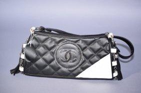 Chanel Style Two Tone Handbag