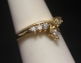 Exquisite 14kt Gold Over Silver Sapphire Ring