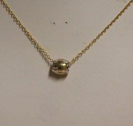 Stylish Gold Over Silver Necklace With Pendant