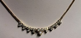 Lady's 18k Gold Diamond Necklace