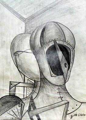 The Gladiators 1950' - Drawing - Giorgio De Chirico