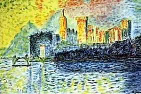 The Palace Rivera - Pastel - Andre Derain