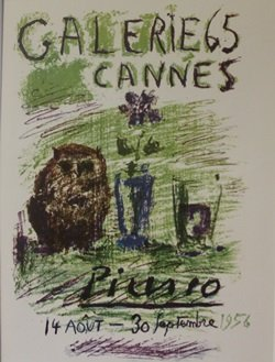 1956 Galerie 65 Cannes Lithograph - Picasso