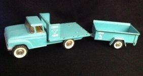 1960's Structo Farms Stake Body Truck & Trailer