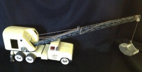 1960's Lime Green Structo Mobil Crane Truck