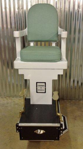 1920's/30's C. Bourdunis Co. Porcelain Shoeshine Chair