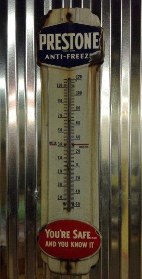 Original Prestone Anti-freeze Porcelain Thermometer
