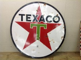 1964 Porcelain Double Sided Texaco Sign