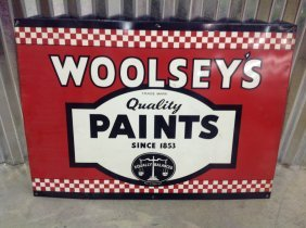 Vintage Woolsey's Quality Paint Sign