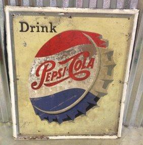 Drink Pepsi-cola Embossed Sign