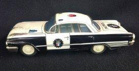 1960's Litho Police Patrol Car