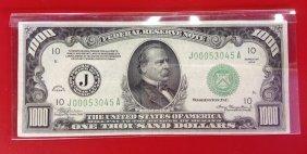 1934 Kansas City $1,000 Note