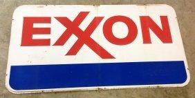1972 Porcelain Exxon Gasoline Sign