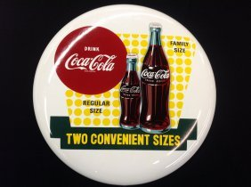 "N.o.s. Porcelain 16"" Drink Coca-cola Button"