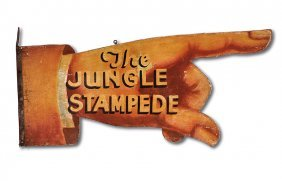Circus Trade Sign. The Jungle Stampede.