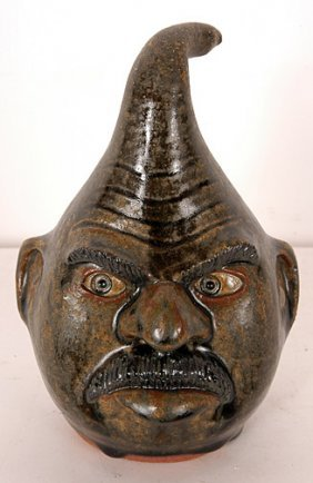 Michael & Melvin Crocker Ceramic Gourd Head.